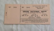 1955 Old Grand National Draw Raffle Tickets