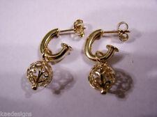 Screw Back (pierced) Rose Gold Fine Earrings