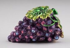 Faberge grape trinket box hand made by Keren Kopal with Austrian crystal