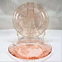 Set of 2 Federal Glass Sharon (Cabbage Rose) Pink Bread and Butter Plates