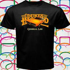 "New "" Dukes of Hazzard General Lee Car"" Men's Black T-Shirt Size S to 3XL"