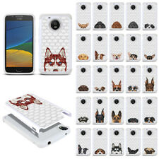 For Motorola Moto G5 5 inch Dog Design Bling Hybrid Rubber Silicone Case Cover