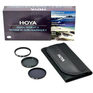 Hoya 72mm Digital Filter Kit: UV(C) + CPL/Circular Polarizer + NDx8/ND8 + Pouch