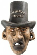 Cast Iron Top Hat Man Ole Masters Brewery Wall Mount Bottle Opener