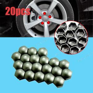 20Pcs 17mm Wheel Lug Nut Bolt Cap Dust Cover #321601173A For VW Audi Skoda Seat
