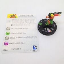 Heroclix DC 10th Anniversary set Green Lantern (Alan) #011 Uncommon fig w/card!