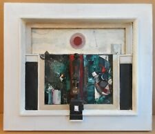 Figure & Screen. Mixed Media by leading Expressionist artist Trevor P Edmands