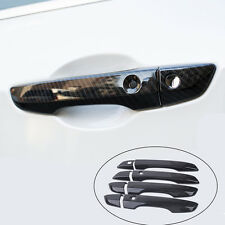 8xABS Carbon Fiber Exterior Door Handle Cover Trim Fit For Honda Civic 2016 2017