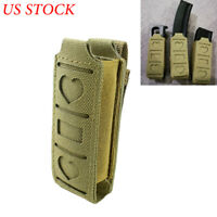 MOLLE Single Magazine Pouch Pistol Mag Holster Tool Pouch for Foldable Knife