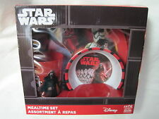 Disney Star Wars 3 Pc Mealtime Set Bowl Plate Cup.  New!