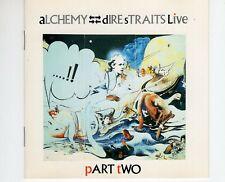CDDIRE STRAITSalchemy - live - part twoORANGE VERTIGO GERMAN 1984 EX+ (R2227)