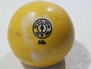 Gold's Gym Vintage 5lb Yellow Soft Weight Medicine Ball Home Workout VTG