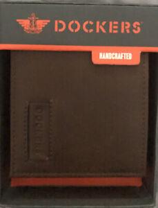 DOCKERS Tan Bifold Handcrafted Wallet 31DP220019 NWT