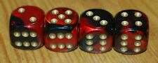 DUDDS DICE BLACK/RED w/GOLD DOTS VALVE STEM CAPS (4 PACK) #66
