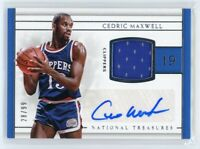 2016-17 CEDRIC MAXWELL 28/99 AUTO JERSEY PANINI NATIONAL TREASURES AUTOGRAPHS