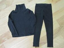 EUC GYMBOREE LOTS OF DOTS HALLOWEEN COSTUME BLACK BASIC LEGGINGS TOP SET 3 3T