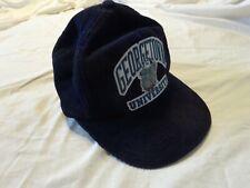 Vintage GEORGETOWN UNIVERSITY Blue Corduroy Hat Cap Snapback Navy BULLDOGS
