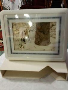 ShowBox Photo Viewer Holds 40 3.5 × 5 in Frame, Viewer, Storage Box Solid White