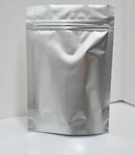 """500 STAND UP FOIL BAGS/POUCHES 4.25""""X6.25""""X1.5"""" WITH ZIPPER Matte Finish Silver"""