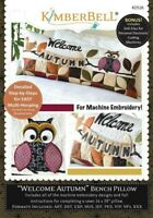 Kimberbell Welcome Autumn Bench Pillow Embroidery CD (KD526)
