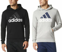 New With Tags Mens Adidas Essential Linear Athletic Hoodie Hooded Sweatshirt