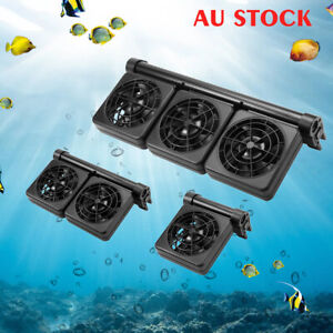 Aquarium Cooling Fan Water Tropical Marine Fish Tank Cold Cool Wind Chiller Fans