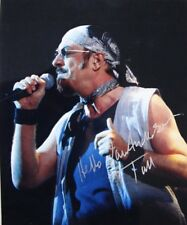 Hand signed photo of Ian Anderson Jethro Tull 9.7 x 8 inches by Mel Longhurst