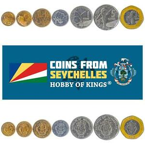 SET OF 7 COINS FROM SEYCHELLES. 1, 5, 10, 25 CENTS, 1, 5, 10 RUPEES. 2016-2018