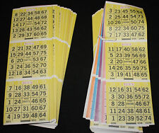 BINGO PAPER Card 3 on 6 Yellow Bdr 50 packs FREE PRIORITY SHIP