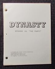 1982 DYNASTY 1/4/82 TV Script #28 The Party 1st Draft FN 47 pgs (A)