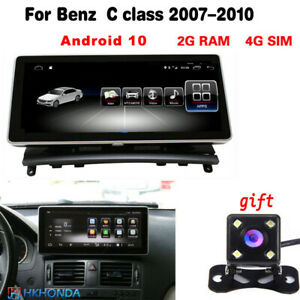 2G Ram Touch Screen Android 10 GPS Navigation for Benz C Class W204 2008-2010