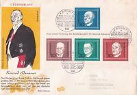 FDC Germany 1968 Gedenkblatt Konrad Adenauer