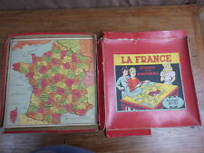 PUZZLE JIGSAW ANCIEN : LA FRANCE DECOUPEE PAR DEPARTEMENTS Ed CAPENDU v. 1935