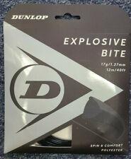 Dunlop Explosive Bite 17 Gauge 1.27mm Tennis String Black NEW
