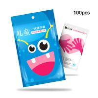 100 Stück / Pack Kinder Einweghandschuhe für Kinder Haltbarer Handschutz DE