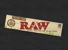 5x Zigarettenpapier RAW  Zigaretten Papier King Size Organic Hemp