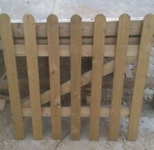 SMOOTH WOODEN PICKET GARDEN GATE HIGH QUALITY WOOD 3FT X 3FT -plus FREE HARDWARE