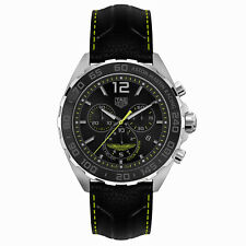 TAG Heuer Formula 1 Aston Martin Special Edition Watch 43 mm CAZ101P.FC8245 NEW