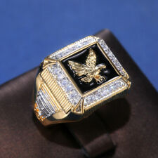 Gold Plated Diamond Jewelry Gift Size 12 Fashion Eagle Rings for Men 18k Yellow
