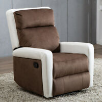 Recliner Chair Manual Sofa Ergonomic Armchair Backrest Wide Padded Seat Lounge