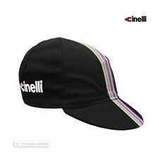 NEW Cinelli CIAO Collection Cycling Cap : BLACK - Made in Italy!