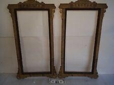 antique Pair Aesthetic Movement vtg. gesso picture frames floral art Victorian