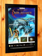 2002 Baldur's Gate Dark Alliance Small Poster Ad Page Framed PS2 GameCube Xbox
