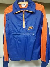 Vintage 70s Nike Sportswear Blue/Orange Windbreaker Jacket SMALL
