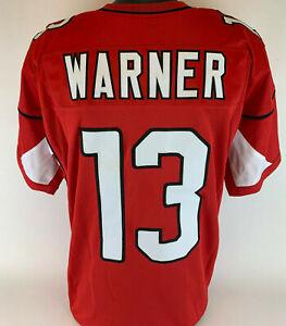 Kurt Warner Unsigned Custom Sewn Red Football Jersey Size - XLarge