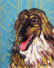Afghan Hound dog Print on 11 oz gift mug - modern folk art - Jschmetz