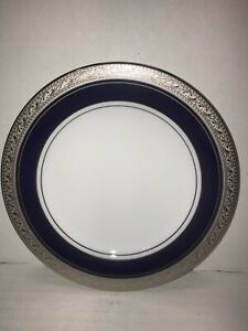 China Legendary Noritake Crestwood Cobalt Platinum Bread and Butter Plate NEW