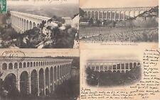 Lot 4 cartes postales anciennes AIX-EN-PROVENCE ROQUEFAVOUR aqueduc
