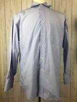 Tommy Hilfiger Blue White Striped Button Down Dress Shirt LS Mens Size 16-32/33