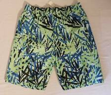 NEW Mens Swim Trunks Medium Board Shorts Blue Green Tropical Surf Pool Swim Suit
